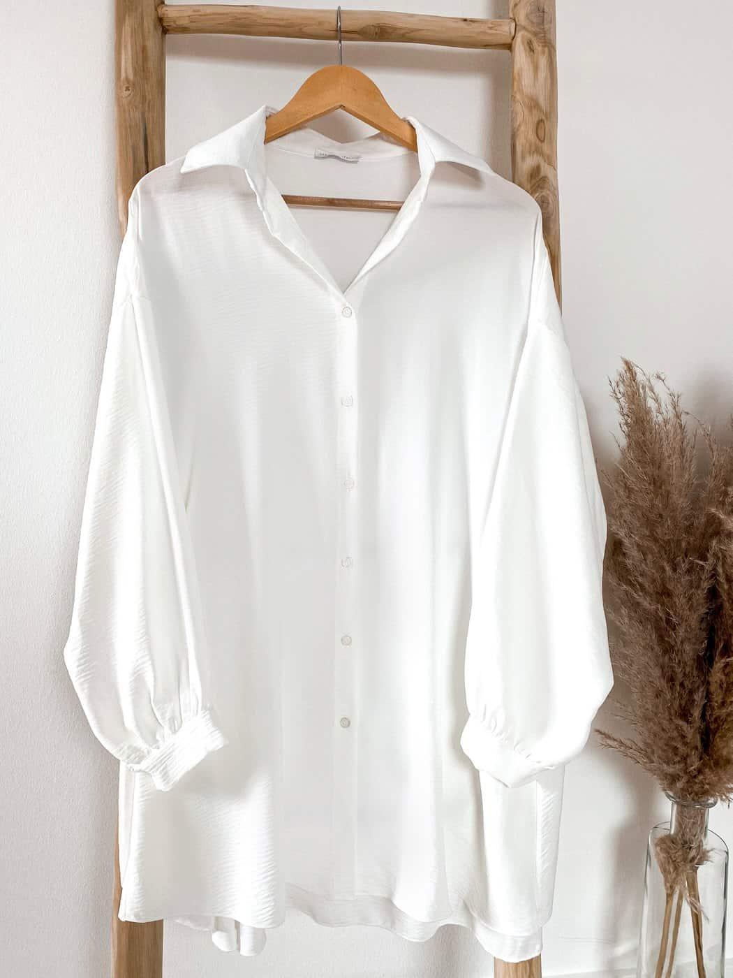 Locker geschnittene Bluse mit Knöpfen - Vazzola Fashion Online Shop