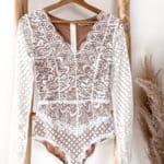 Vazzola Fashion Online Shop - Body mit Spitze