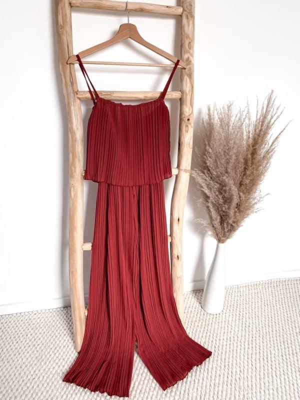 Overall plissee plissiert rot, rost Vazzola Fashion Shop