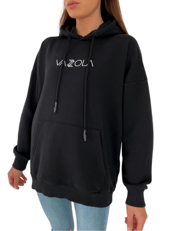 Vazzola Hoodie Kapuzen Pullover Sweater Schwarz Logo Vazzola Fashion 5