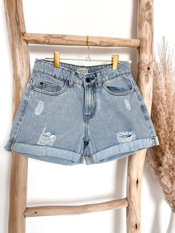 Jeans Short Highwaist Blue Vazzola Fashion Shop1
