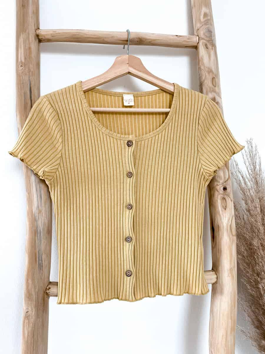 Vazzola Fashion Shop Damenshirt mit Knöpfen