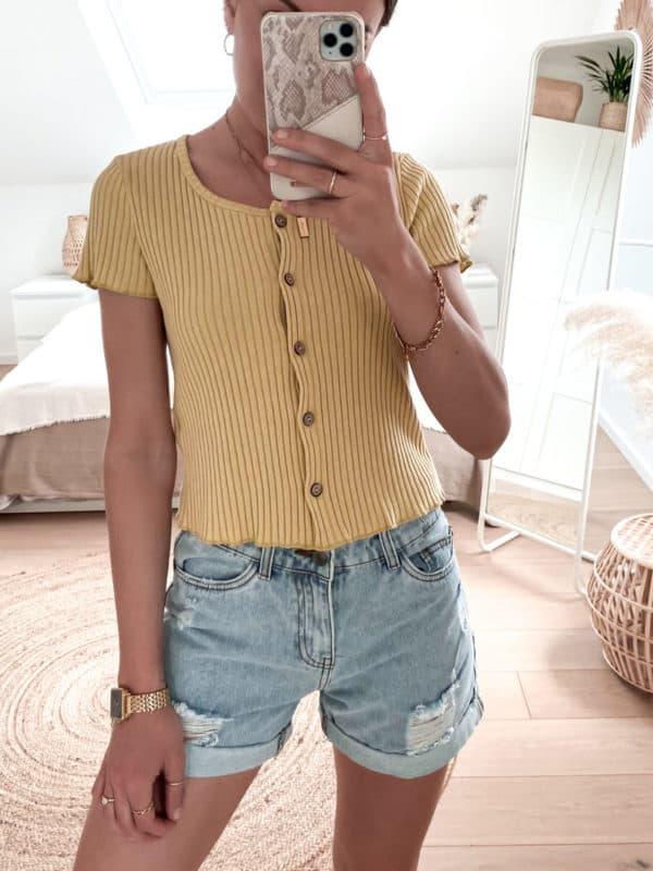 Vazzola Fashion Shop Shirt mit Knöpfen