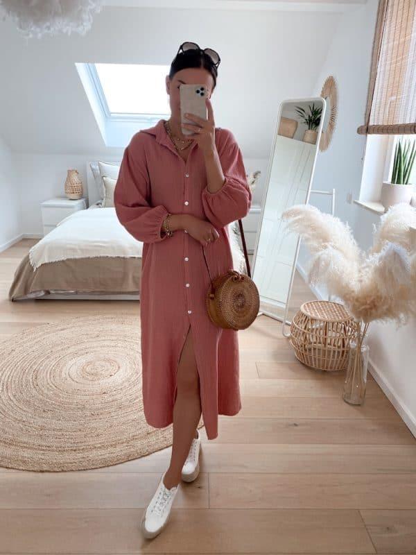 Vazzola Fashion - Korbtasche aus Rattan mit Reißverschluss und Lederriemen