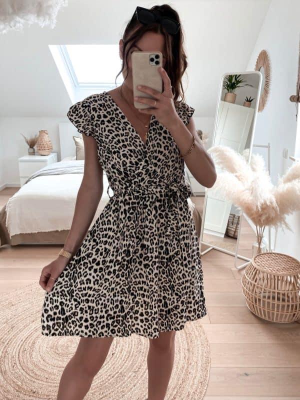 sommerliches Leokleid - Im Vazzola Fashion Onlineshop
