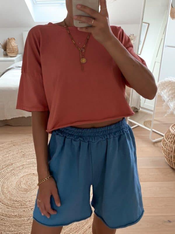 Sweat Shorts aus Baumwolle für Damen im Vazzola Fashion Onlineshop
