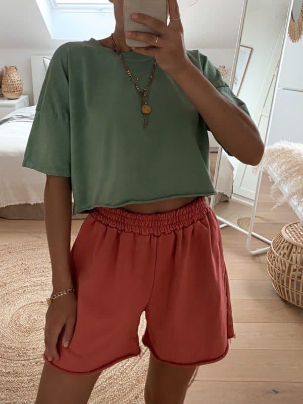 Cropped T-Shirt für Damen im Vazzola Fashion Onlineshop