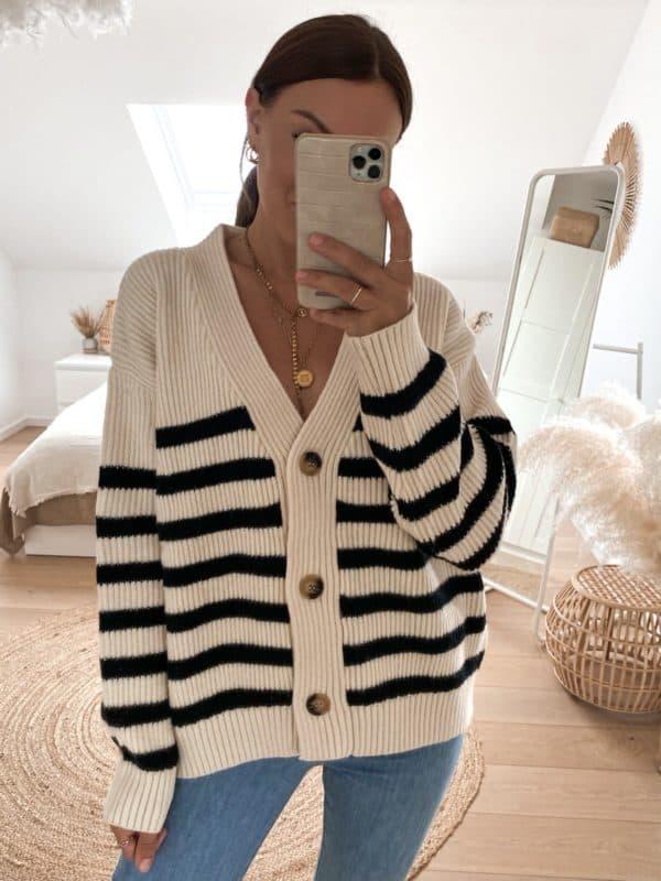 Kuscheliger Cardigan mit Knopfleiste für Damen - Vazzola Fashion Onlineshop